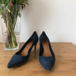 Tory Burch // Blue Suede Heel